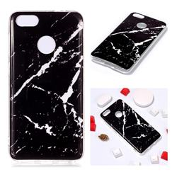 Black Rough white Soft TPU Marble Pattern Phone Case for Huawei P9 Lite Mini (Y6 Pro 2017)