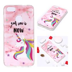 Unicorn Soft TPU Marble Pattern Phone Case for Huawei P9 Lite Mini (Y6 Pro 2017)