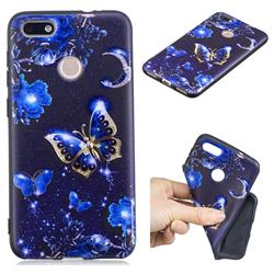 Phnom Penh Butterfly 3D Embossed Relief Black TPU Cell Phone Back Cover for Huawei P9 Lite Mini (Y6 Pro 2017)