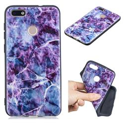 Marble 3D Embossed Relief Black TPU Cell Phone Back Cover for Huawei P9 Lite Mini (Y6 Pro 2017)