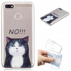No Cat Clear Varnish Soft Phone Back Cover for Huawei P9 Lite Mini (Y6 Pro 2017)