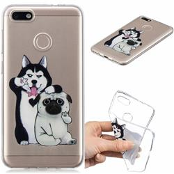 Selfie Dog Clear Varnish Soft Phone Back Cover for Huawei P9 Lite Mini (Y6 Pro 2017)