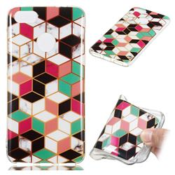 Three-dimensional Square Soft TPU Marble Pattern Phone Case for Huawei P9 Lite Mini (Y6 Pro 2017)