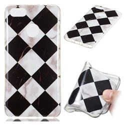 Black and White Matching Soft TPU Marble Pattern Phone Case for Huawei P9 Lite Mini (Y6 Pro 2017)