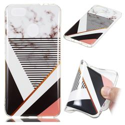 Pinstripe Soft TPU Marble Pattern Phone Case for Huawei P9 Lite Mini (Y6 Pro 2017)