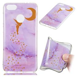 Elf Purple Soft TPU Marble Pattern Phone Case for Huawei P9 Lite Mini (Y6 Pro 2017)