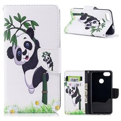 Bamboo Panda Leather Wallet Case for Huawei P9 Lite Mini (Y6 Pro 2017)