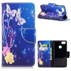Yellow Flower Butterfly Leather Wallet Case for Huawei P9 Lite Mini (Y6 Pro 2017)