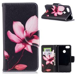Lotus Flower Leather Wallet Case for Huawei P9 Lite Mini (Y6 Pro 2017)
