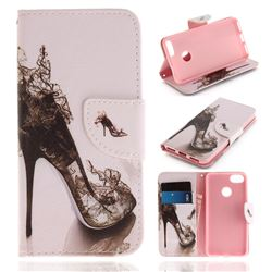 High Heels PU Leather Wallet Case for Huawei P9 Lite Mini (Y6 Pro 2017)