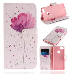 Purple Orchid PU Leather Wallet Case for Huawei P9 Lite Mini (Y6 Pro 2017)