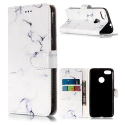Soft White Marble PU Leather Wallet Case for Huawei P9 Lite Mini (Y6 Pro 2017)