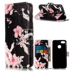 Azalea Flower PU Leather Wallet Case for Huawei P9 Lite Mini (Y6 Pro 2017)