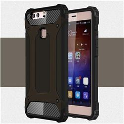 King Kong Armor Premium Shockproof Dual Layer Rugged Hard Cover for Huawei P9 Plus P9plus - Black Gold