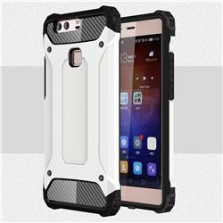 King Kong Armor Premium Shockproof Dual Layer Rugged Hard Cover for Huawei P9 Plus P9plus - White