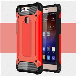 King Kong Armor Premium Shockproof Dual Layer Rugged Hard Cover for Huawei P9 Plus P9plus - Big Red
