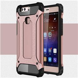 King Kong Armor Premium Shockproof Dual Layer Rugged Hard Cover for Huawei P9 Plus P9plus - Rose Gold