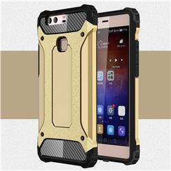 King Kong Armor Premium Shockproof Dual Layer Rugged Hard Cover for Huawei P9 Plus P9plus - Champagne Gold