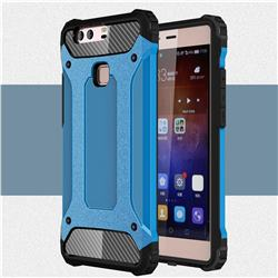 King Kong Armor Premium Shockproof Dual Layer Rugged Hard Cover for Huawei P9 Plus P9plus - Sky Blue