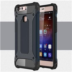 King Kong Armor Premium Shockproof Dual Layer Rugged Hard Cover for Huawei P9 Plus P9plus - Navy