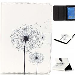 8 inch Universal Tablet Flip Cover Folio Stand Leather Wallet Case - Dandelion