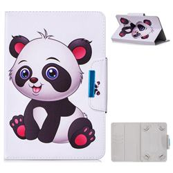8 inch Universal Tablet Flip Cover Folio Stand Leather Wallet Tablet Case - Panda Girl