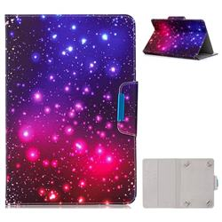 8 inch Universal Tablet Flip Cover Folio Stand Leather Wallet Tablet Case - Fantasy Starry Sky