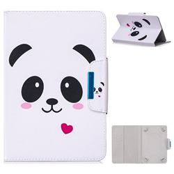 10 Inch Universal Tablet Flip Cover Folio Stand Leather Wallet Tablet Case - Heart Panda