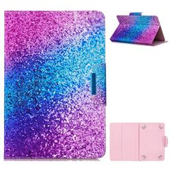 10 Inch Universal Tablet Flip Cover Folio Stand Leather Wallet Tablet Case - Rainbow Sand