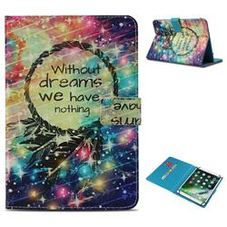 Do Have Dreams Pattern Universal 10 inch Tablet Flip Folio Stand Leather Wallet Tablet Case Cover