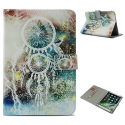 White Wind Chimes Pattern Universal 10 inch Tablet Flip Folio Stand Leather Wallet Tablet Case Cover