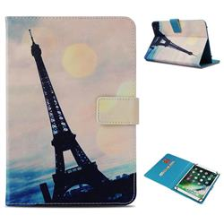 Leaning Eiffel Tower Pattern Universal 10 inch Tablet Flip Folio Stand Leather Wallet Tablet Case Cover
