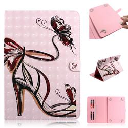 Butterfly High Heels 3D Painted Universal 10 inch Tablet Flip Folio Stand Leather Wallet Tablet Case Cover