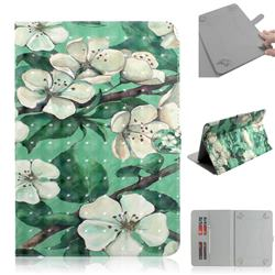 Watercolor Flower 3D Painted Universal 10 inch Tablet Flip Folio Stand Leather Wallet Tablet Case Cover