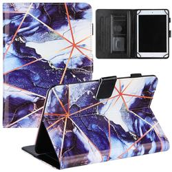 8 inch Universal Tablet Cover Starry Blue Stitching Color Marble Leather Flip Cover