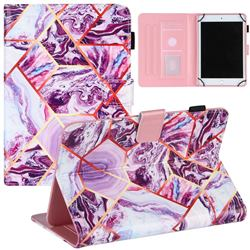 7 inch Universal Tablet Cover Dream Purple Stitching Color Marble Leather Flip Cover