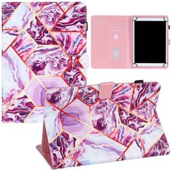 10 inch Universal Tablet Cover Dream Purple Stitching Color Marble Leather Flip Cover