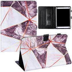 10 inch Universal Tablet Cover Black and White Stitching Color Marble Leather Flip Cover
