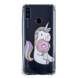 Donut Unicorn Anti-fall Clear Varnish Soft TPU Back Cover for Huawei P Smart (2019)