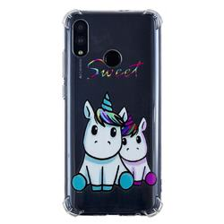 Sweet Unicorn Anti-fall Clear Varnish Soft TPU Back Cover for Huawei P Smart (2019)