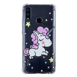 Star Unicorn Anti-fall Clear Varnish Soft TPU Back Cover for Huawei P Smart (2019)