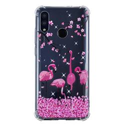 Cherry Flamingo Anti-fall Clear Varnish Soft TPU Back Cover for Huawei P Smart (2019)