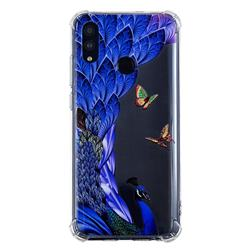 Peacock Butterfly Anti-fall Clear Varnish Soft TPU Back Cover for Huawei P Smart (2019)