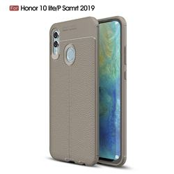 Luxury Auto Focus Litchi Texture Silicone TPU Back Cover for Huawei P Smart (2019) - Gray