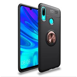 Auto Focus Invisible Ring Holder Soft Phone Case for Huawei P Smart (2019) - Black Gold