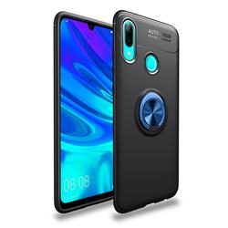 Auto Focus Invisible Ring Holder Soft Phone Case for Huawei P Smart (2019) - Black Blue