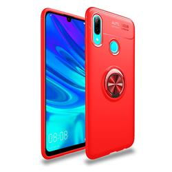 Auto Focus Invisible Ring Holder Soft Phone Case for Huawei P Smart (2019) - Red