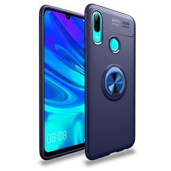 Auto Focus Invisible Ring Holder Soft Phone Case for Huawei P Smart (2019) - Blue