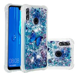 Flower Butterfly Dynamic Liquid Glitter Sand Quicksand Star TPU Case for Huawei P Smart (2019)