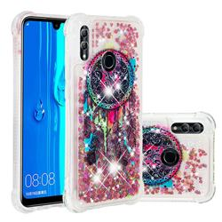 Seal Wind Chimes Dynamic Liquid Glitter Sand Quicksand Star TPU Case for Huawei P Smart (2019)